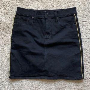 Black denim madewell skirt